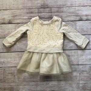 Cherokee Long Sleeve Tulle Shirt size 18 month